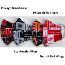 Face Mask, NHL, Chicago Blackhaws, Los Angeles Kings, Philadelphia Flyers, Detroit Red Wings
