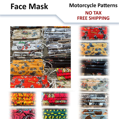Motorcycle Patterns Face Mask - MADE IN CANADA