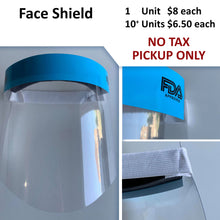 $6.50-$8 No Tax - FDA Approved Face Shield (Pickup Only)