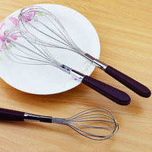 13% to 20% OFF - LIMITED TIME OFFER - Faux Leather Handle Stainless Steel Whisk - 3 Sizes