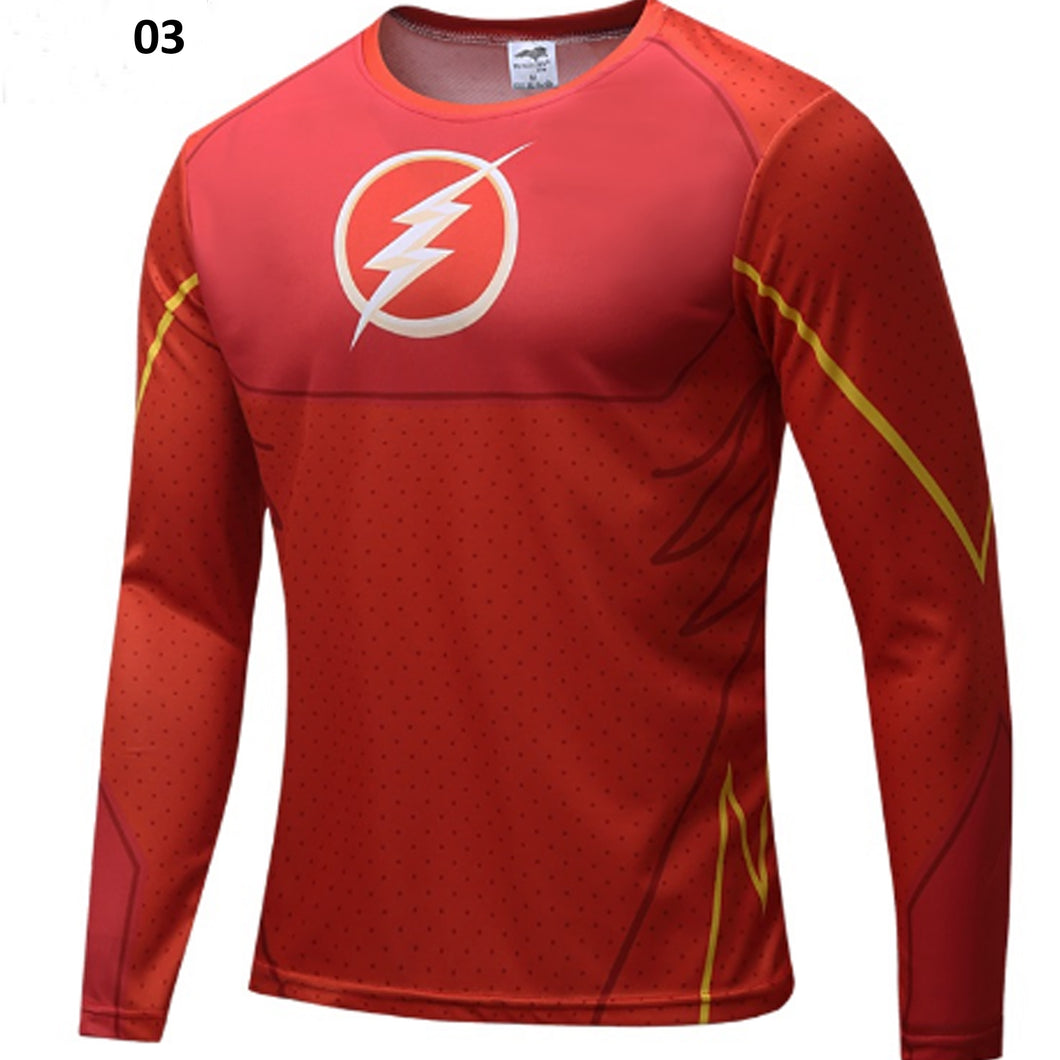 Superhero Flash Fitness Compression Long Sleeve Shirt