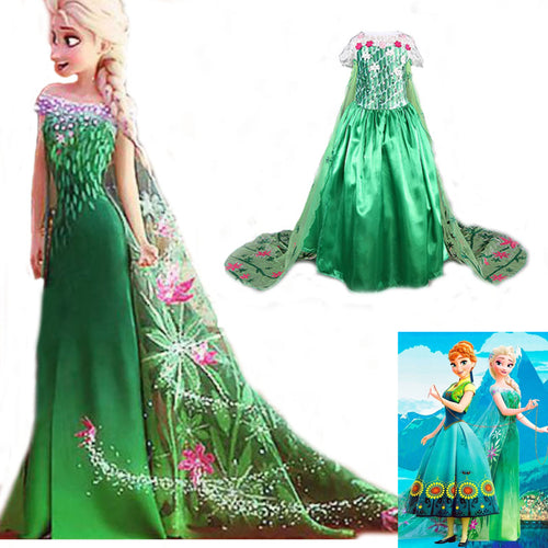 33% OFF - LIMITED TIME OFFER - Frozen - Elsa Green Dress
