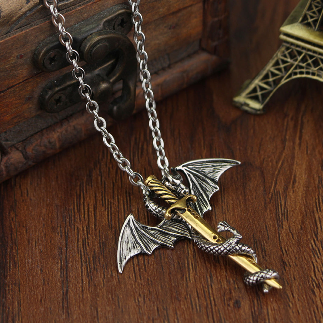 Game of Thrones Flying Dragon Sword Necklace - 2 Colours