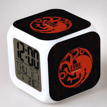 28% OFF LIMITED TIME OFFER - Game of Thrones House - LED 7 Colours Changing Alarm Clock
