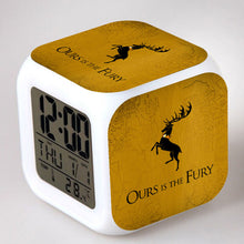 28% OFF LIMITED TIME OFFER - Game of Thrones Motto - LED 7 Colours Changing Alarm Clock