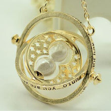 Time Turner Necklace Rotating Spins Gold Hourglass - 9 Colours