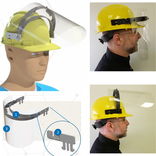 $14-$25 - Hard Hat Clip Face Shield - Health Canada Approved