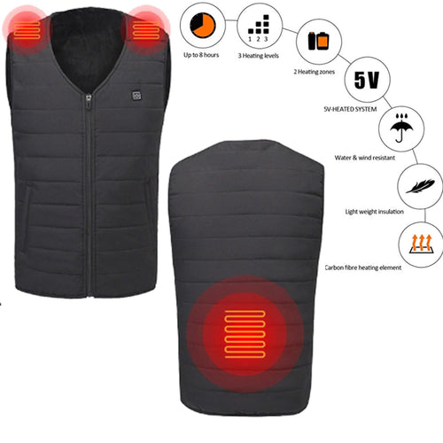USB Smart Intelligent Back and Shoulders Heated Vest