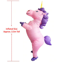 Adult and Kid Inflatable Unicorn Costume