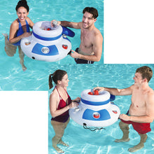 Inflatable Floating Pool Ice Bucket with Drink / Cup Holders