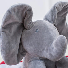25% OFF - LIMITED TIME OFFER - 30cm Interactive Ears Flapping  Peek-a-Boo Plush Elephant