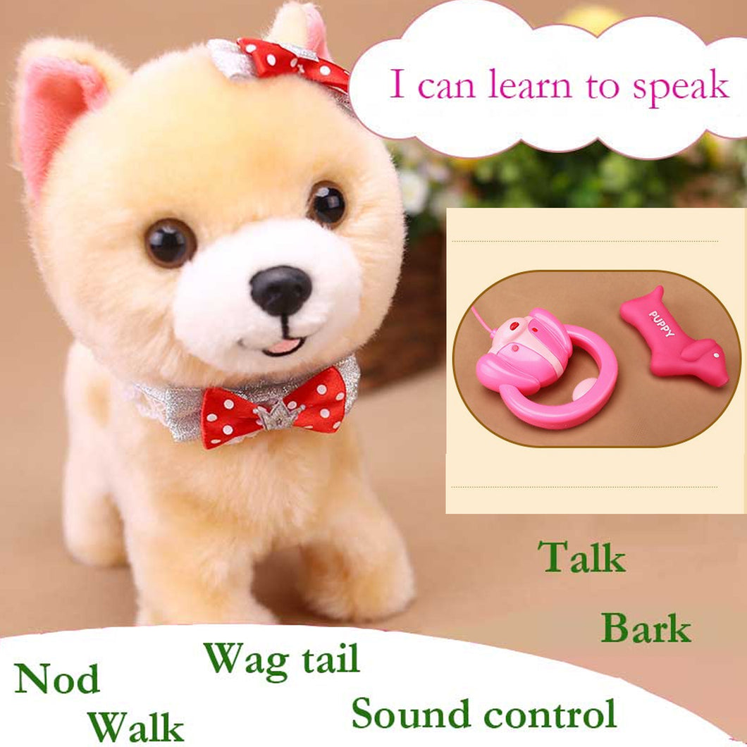 Interactive Electronic Dog - Repeats what you say, Walks and Barks andMmore
