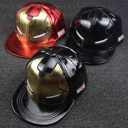 Iron-Man Adult & Kid Hip-Hop Flat Rim Cap