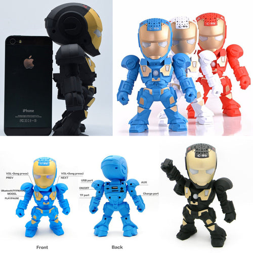 28% OFF LIMITED TIME OFFER - Iron Man Wireless Bluetooth Speaker - 4 Colours