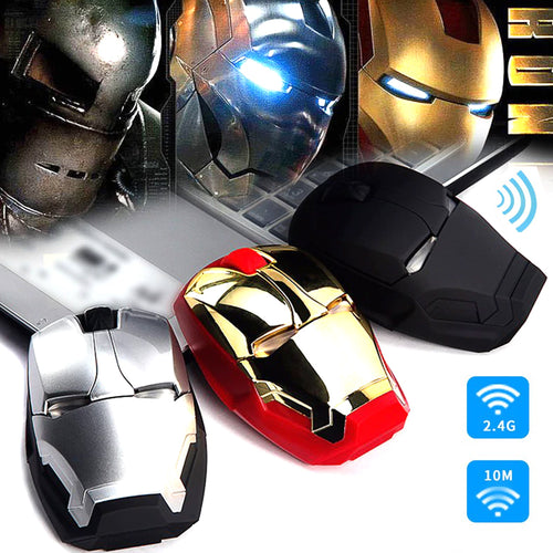 50% OFF - LIMITED TIME OFFER - Iron Man Light-Up Eyes Wireless Gaming Mouse
