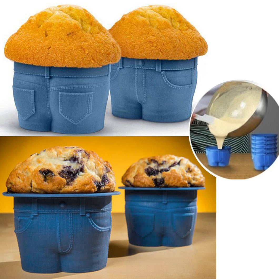 50% OFF - LIMITED TIME OFFER - Jeans Style Muffin / Cupcake Pants Moulds - 4-Pcs Set