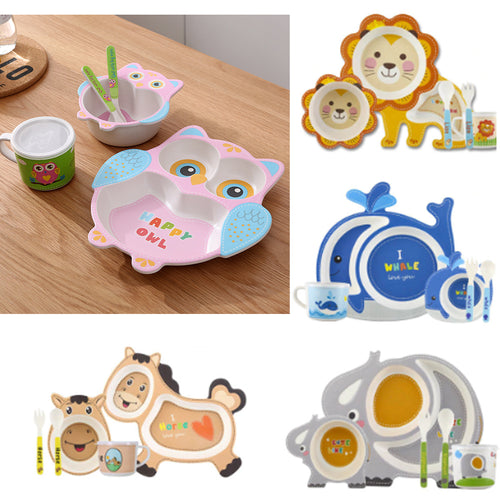 16% OFF - LIMITED TIME OFFER - Kids' Animal Dish Set - 5Pcs
