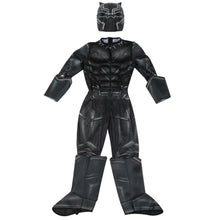 Kid's Muscle Costume - Black Panther