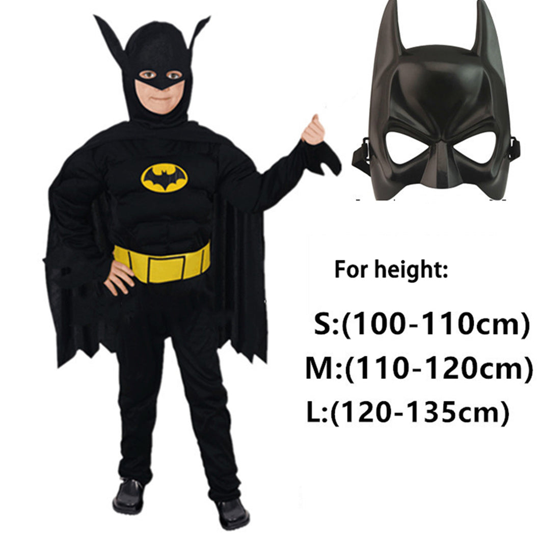 Kid's Muscle Costume - Batman