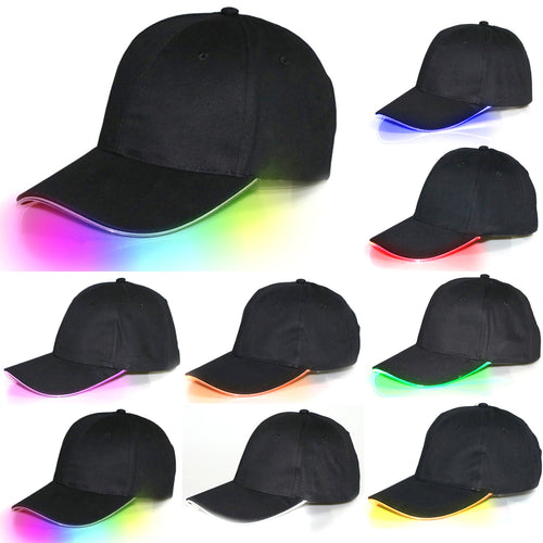 50% OFF - LIMITED TIME OFFER - LED Light Up Black Hat