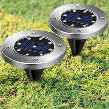 15% OFF - LIMITED TIME OFFER - LED Solar Powered Disk Lights - 4 or 8 Pcs Set