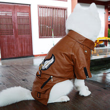 Large Dog Eagle PU Leather Jacket - 2 Colours