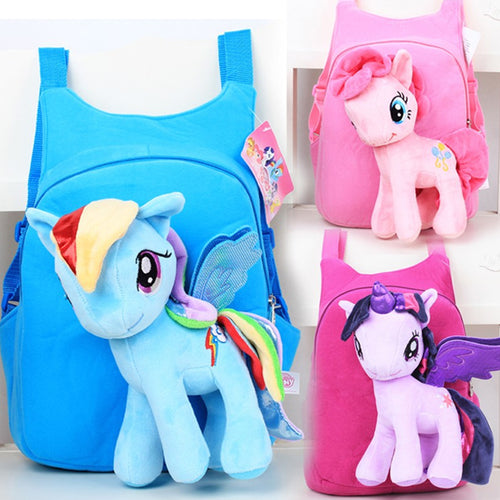 20% OFF - LIMITED TIME OFFER - Little Poney Kid's Plush Toy Backpack