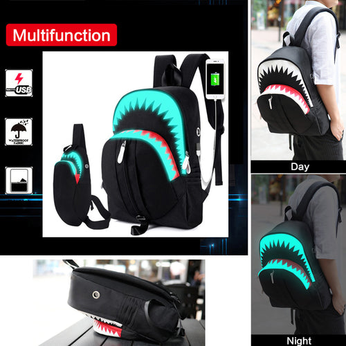 30% OFF - LIMITED TIME OFFER - Luminous 3D Shark Chest Bag and/or Backpack