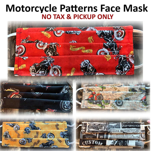 No Tax -  Motorcycle Patterns Face Mask (Pickup Only)