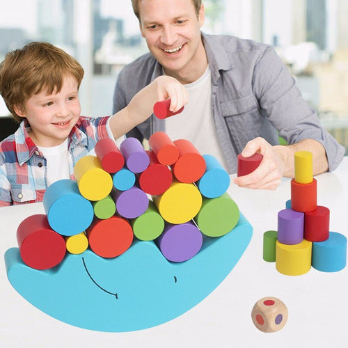 50% OFF - LIMITED TIME OFFER - Moon Balancing Educational Wooden Stacking Blocks