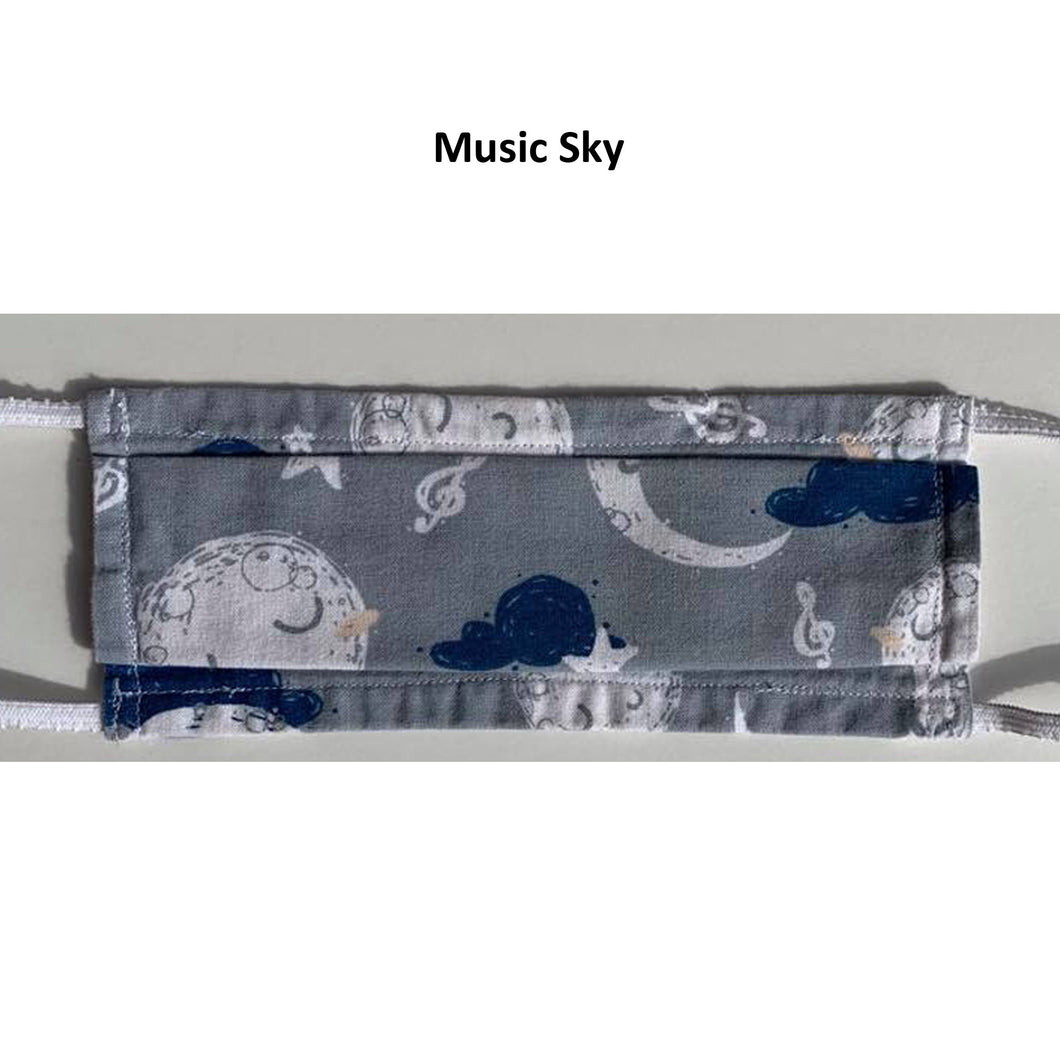 No tax - Music Sky Pattern Face Mask (Pickup Only)