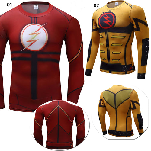 Superhero Flash Fitness Compression Long Sleeve Shirt - 2 Models