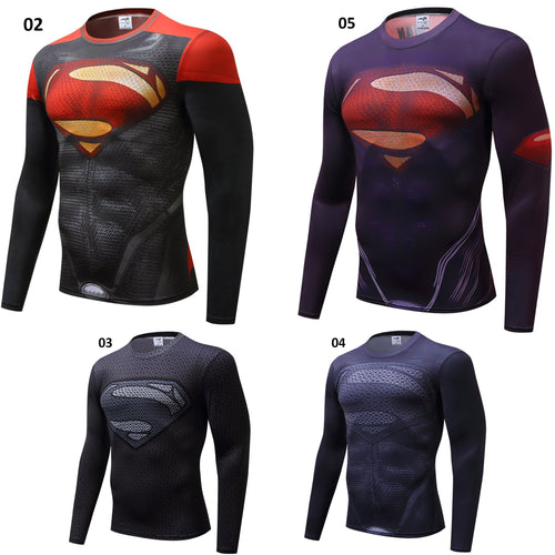 Superman Long Sleeve Compression - 4 Models