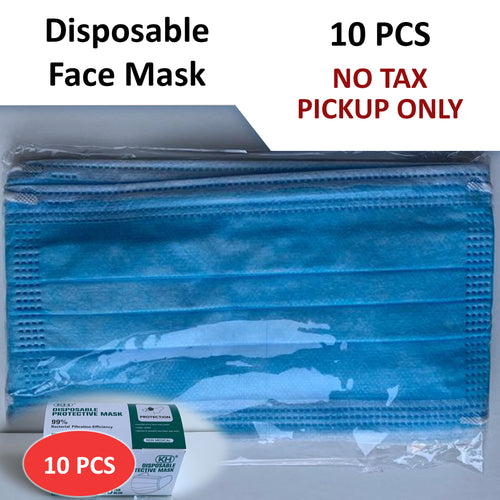 No Tax - Disposable Face Mask - 10pcs (Pickup Only)