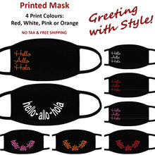 Greeting with Style - Printed Face Mask - Printed and Shipped from Canada