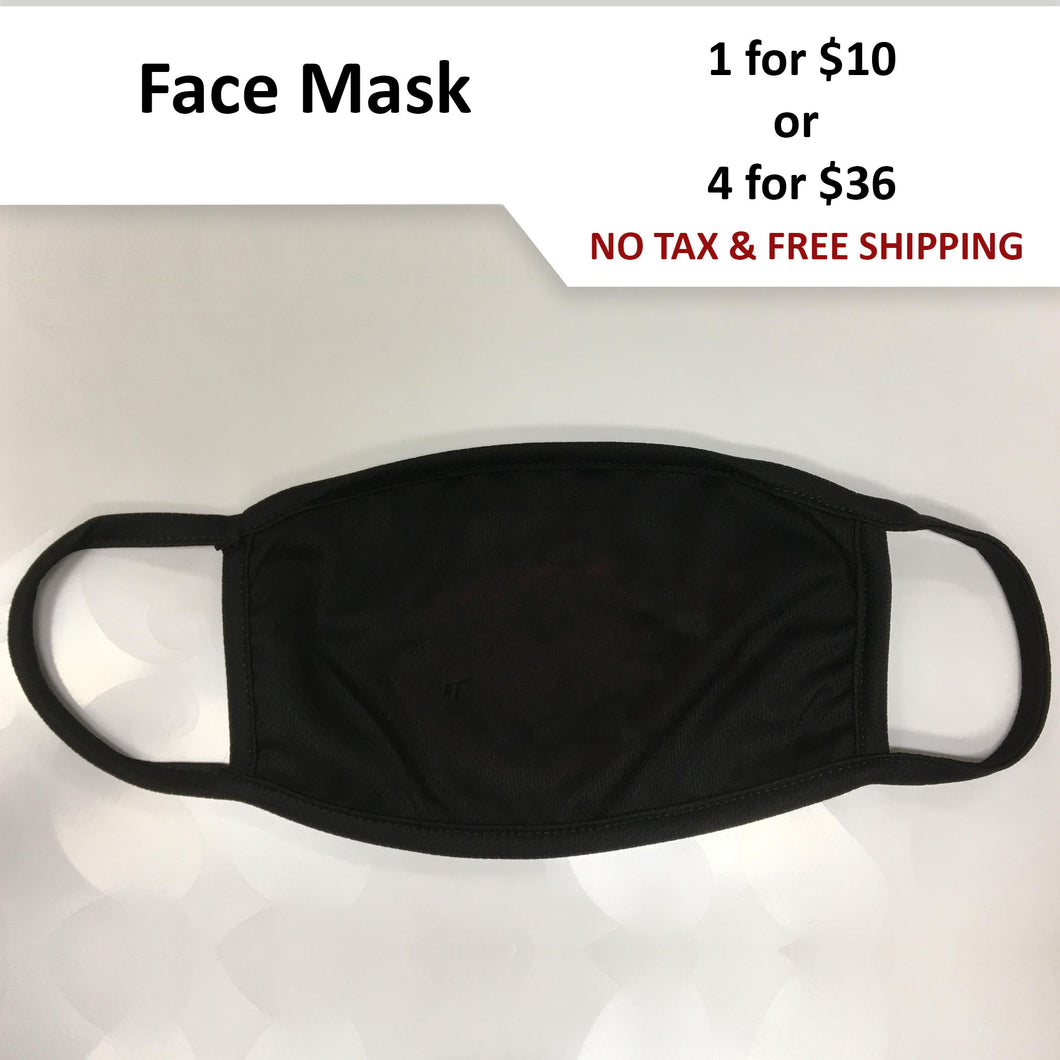 $9-$10 - Plain Black Face Mask - Shipped from Canada