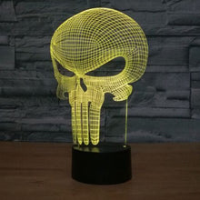 Punisher 3D Optical Illusion Lamp