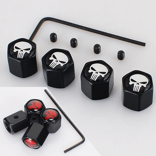 Punisher Anti-Theft Tire Valve Caps