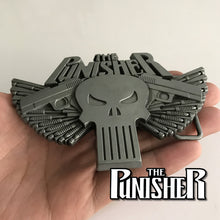 Punisher Antique Silver Style Belt Buckle