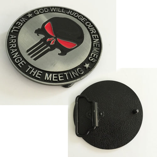 Punisher Belt Buckle - We'll Arrange the Meeting