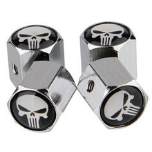 Punisher Chrome Tire Valve Caps