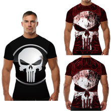 Teenager & Adult Punisher Double Sided Fitness Short Sleeve Shirt
