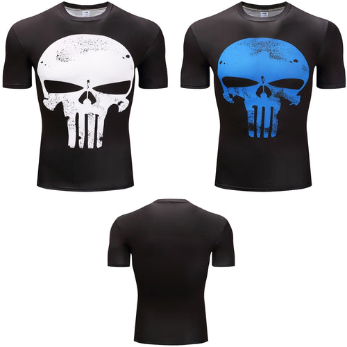 Punisher Fitness Compression Short Sleeve Shirt