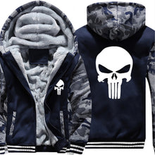 Punisher Inside Plush Zip Up  Hoodie / Jacket