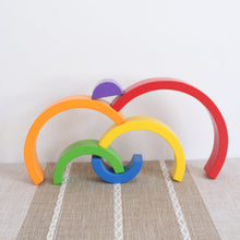 Up to 25% OFF - LIMITED TIME OFFER - Educational Rainbow Wooden Building Blocks - 6Pcs or 12Pcs