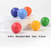 28% OFF - LIMITED TIME OFFER - 6Pcs Educational Rainbow Wooden Balls - 4.5cm