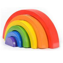 25% OFF - LIMITED TIME OFFER - 6Pcs Educational Rainbow Wooden Building Block - 26.5cm x 13cm x 4.5cm