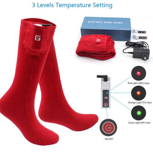 33% OFF - LIMITED TIME OFFER - Rechargeable Heated Socks - 3 Heating Levels