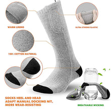 33% OFF - LIMITED TIME OFFER - Rechargeable Thermal Heated Socks - 3 Heating Levels