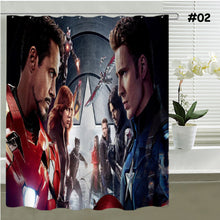 Superheroes Fabric Shower Curtain